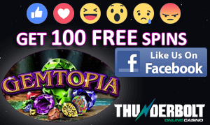 Like OnlineCasinosOnline.co.za Facebook page and Get 100 Free Spins