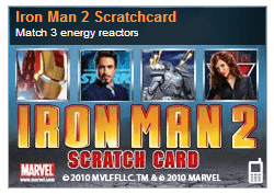 Iron Man 2 Scratch Card
