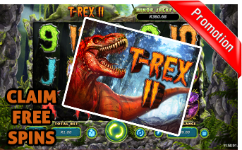 New T-Rex II Slot Play Now With Free Spins Bonuses