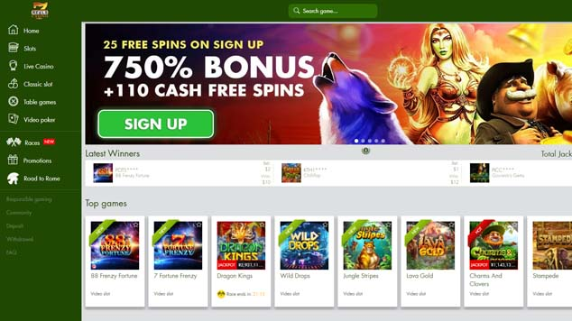 7 Reels Casino Home Page