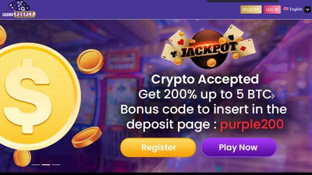 Casino Purple Landing Page