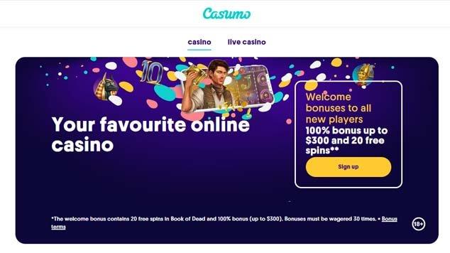 Casumo Casino Landing