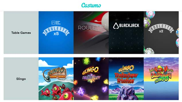 Casumo Casino Table Games