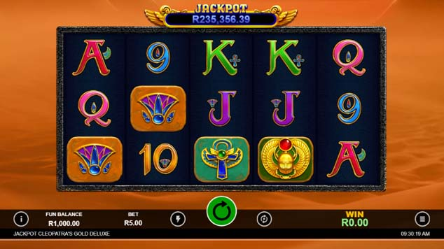 Cleopatra's Gold Deluxe Slot Game