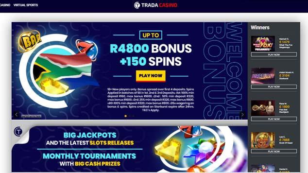 Trada Casino Landing Page
