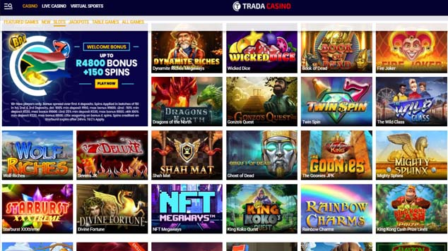 Trada Casino Slots Games