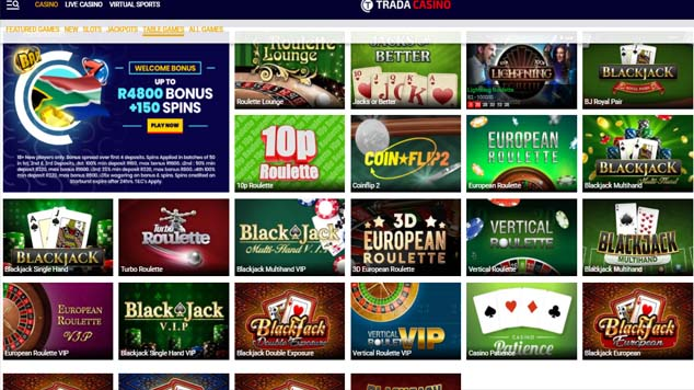 Trada Casino Table Games